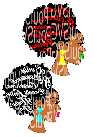 339x479 Afro Svg,afro Lady Svg,silhouette Cameo Cutting File, African