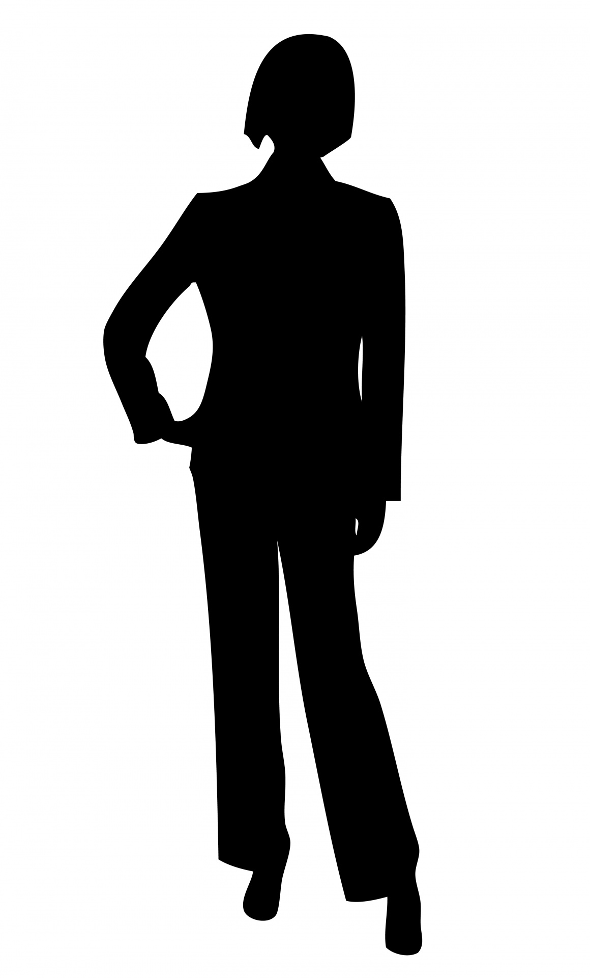 1160x1920 Clipart Of A Silhouette Of A Young African American Male In A Suit