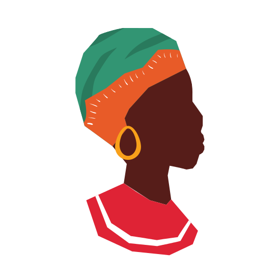 550x550 African Woman Silhouette