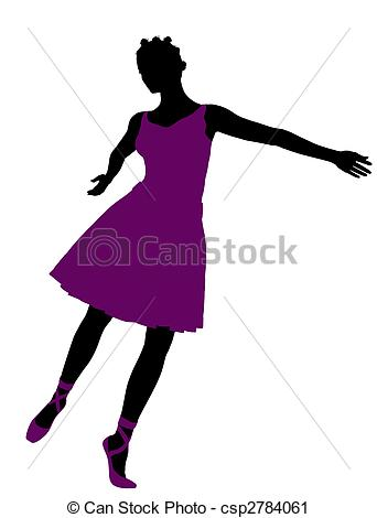 342x470 African American Female Ballerina Silhouette. African Clipart