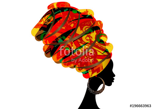 500x357 Portrait Beautiful African Woman In Traditional Turban, Kente Head