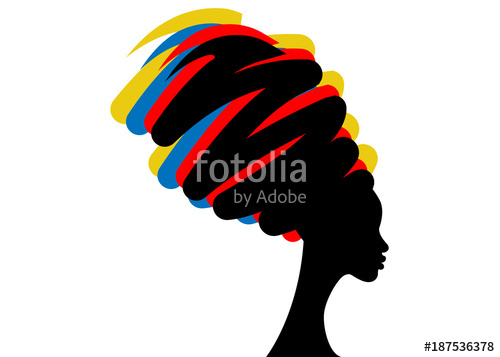 500x357 Portrait Beautiful African Woman In Traditional Turban, Black Afro