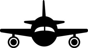 300x163 Silhouette Airplane Airplane Clip Art Images Airplane Stock