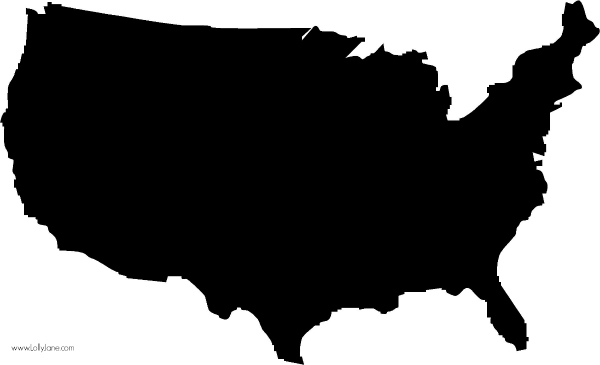 600x365 Stencil United States Sign Silhouettes, Free And United States