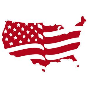 300x300 American Flag Silhouette Design, Silhouettes And Flags