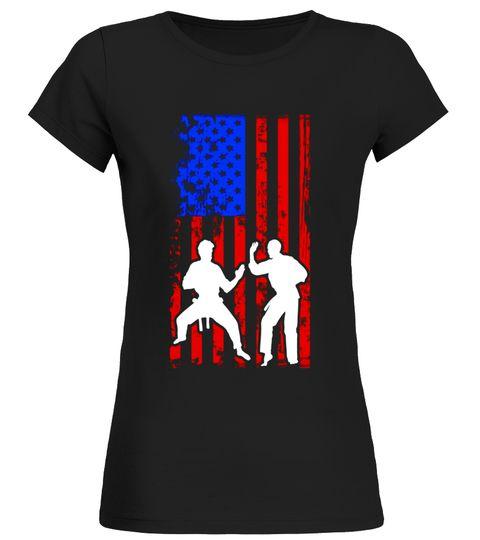 480x540 Martial Arts American Flag Sports Player Silhouette T Shirt Wall