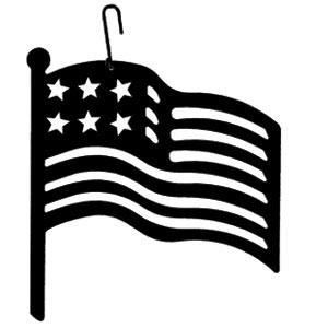 300x300 Wrought Iron American Flag Decoration Hanging Silhouette Flags