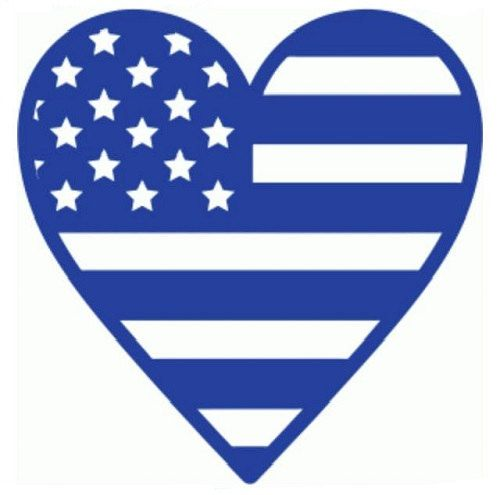 499x495 American Flag Heart Decal American Flag By Astitchofhappiness