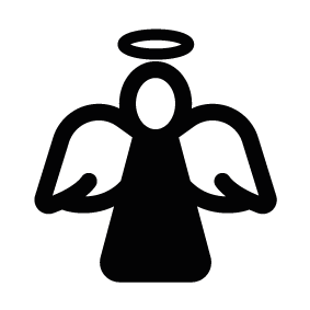 283x283 Christmas Angel Silhouette Silhouette Of Christmas Angel