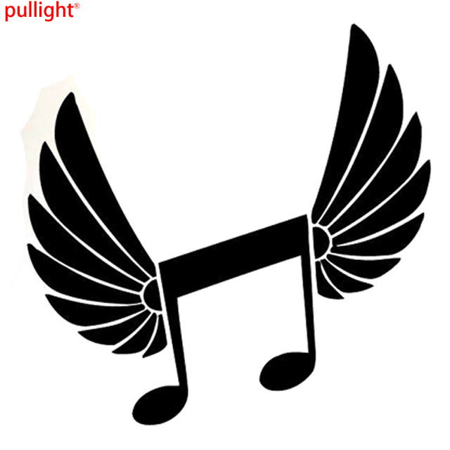 640x640 Interesting Music Wings Angel Melody Symbol Silhouette Vinyl Car