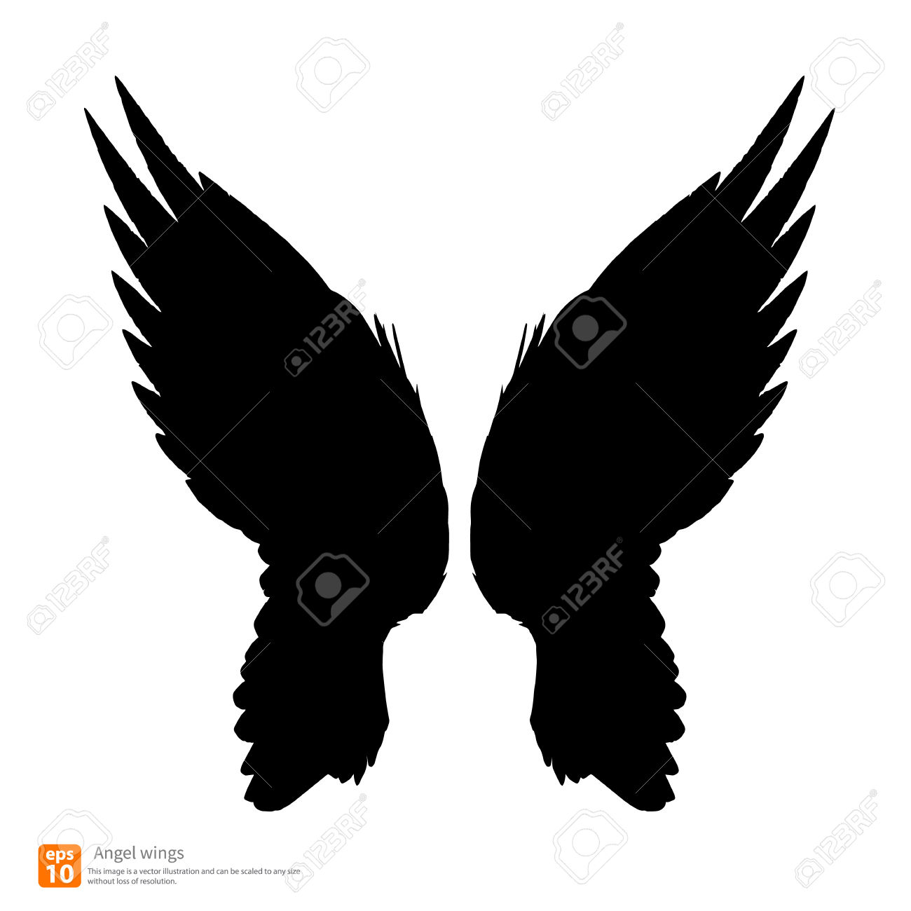 1300x1300 Wings Silhouette Clipart