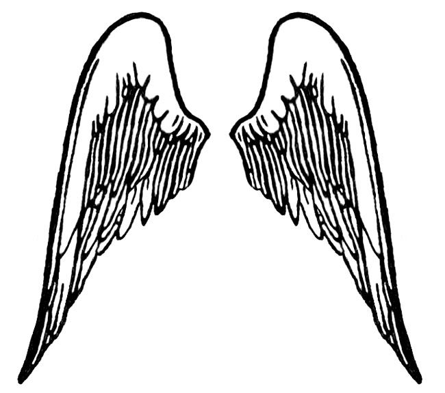 Silhouette Angel Wings