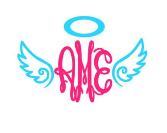 340x270 Angel Wings Svg Etsy