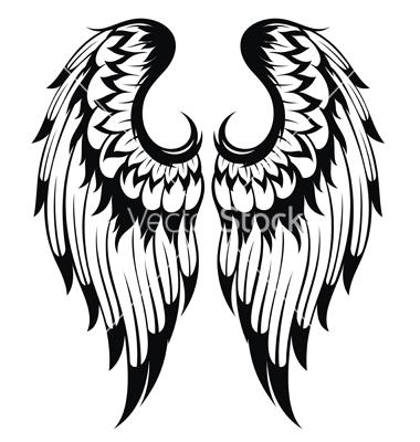 380x400 Angel Wings Vector Silhouettes Angel Wings, Angel