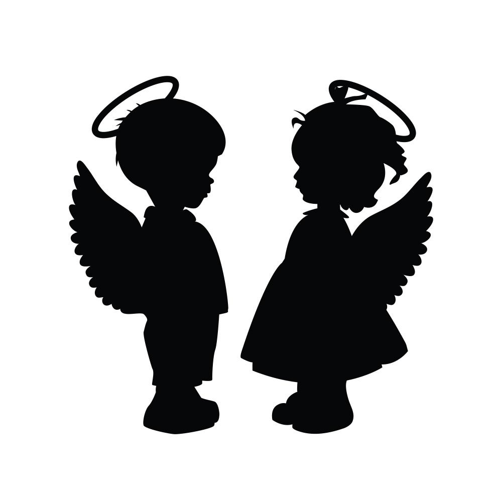 1000x1000 Lolitattoo. Boy And Girl Angels