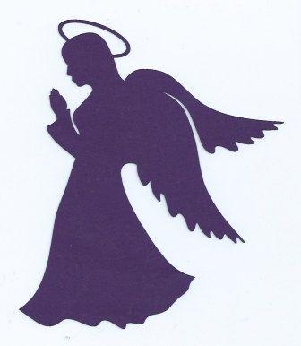 336x386 Silhouette De L'Ange De La Silhouettes, Angel And Etsy