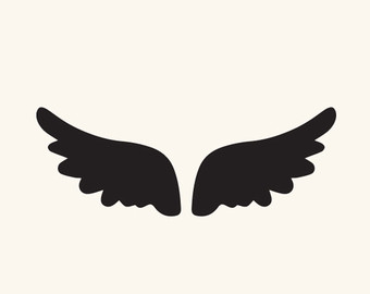 340x270 Angel Wings Silhouette Clipart