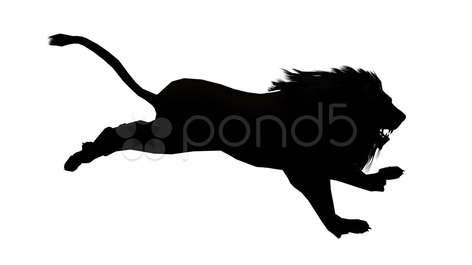 1920x1080 Lion Run,endangered Wild Animal Wildlife Running Sketch Silhouette