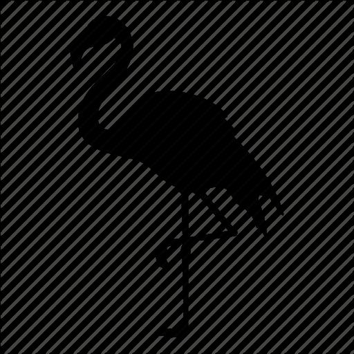 512x512 Animal, Bird, Flamingo, Flamingos, Nature, Pink, Silhouette Icon