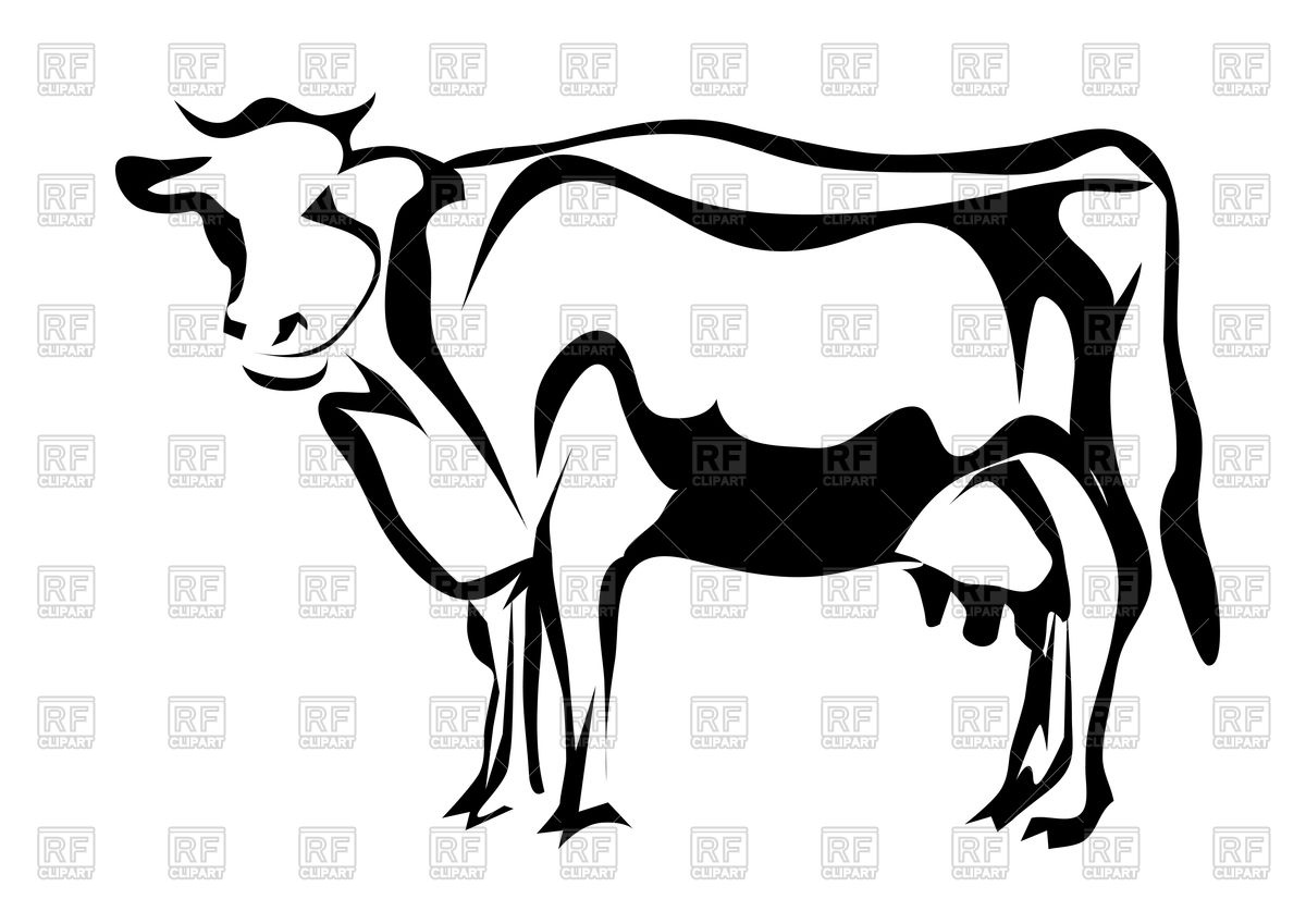 1200x849 Silhouette Of Cow Royalty Free Vector Clip Art Image
