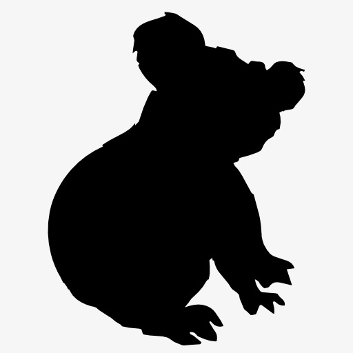 512x512 Sloth Silhouette, Animal, Projection, Black Silhouette Png Image