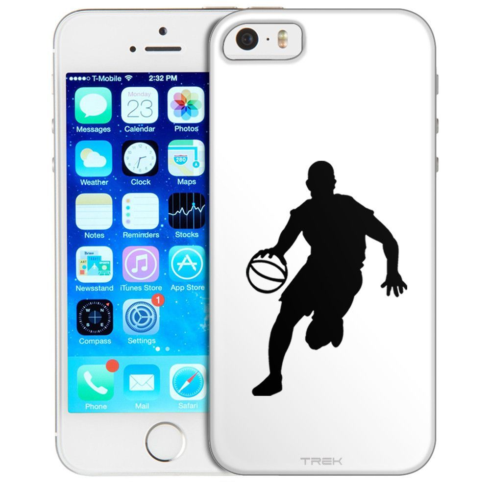 1000x1000 Apple Iphone Se Silhouette Basketball Player On White Trans Case