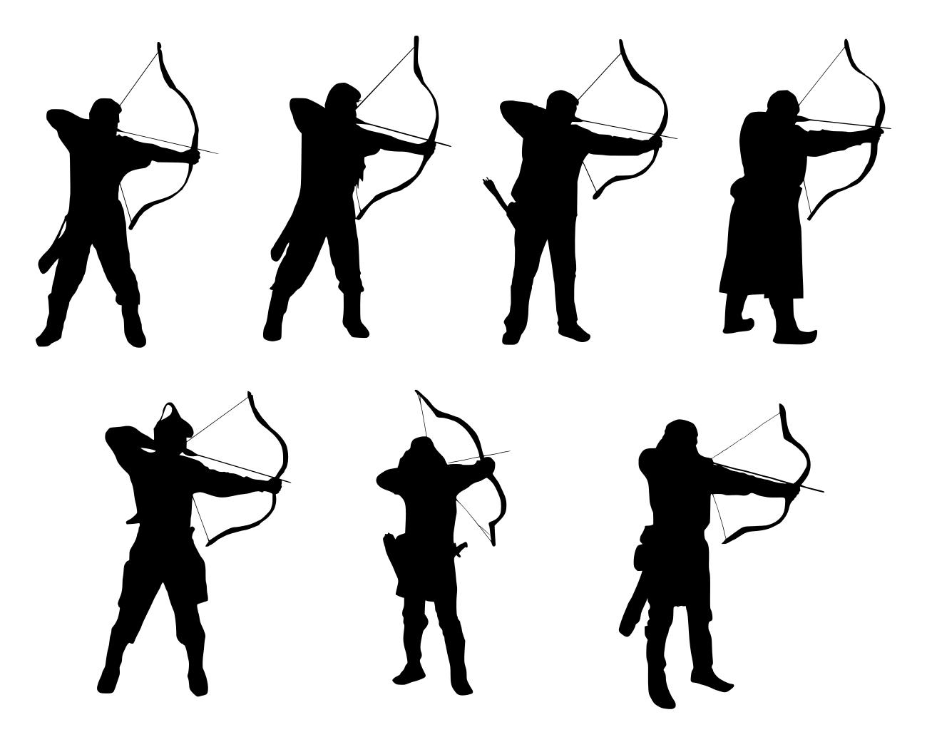 1300x1041 7 Archer Silhouette (Png Transparent)