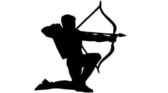 570x316 Handmade Archery Silhouette Vinyl Car Decal By Thesamantics