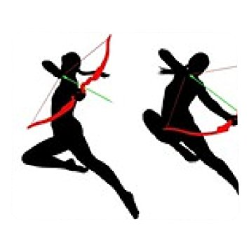 355x355 Jumping Archer Female Silhouette Mousepad