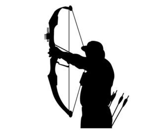 340x270 Pix For Gt Bow Hunter Silhouette Clipart Images Silhouettes