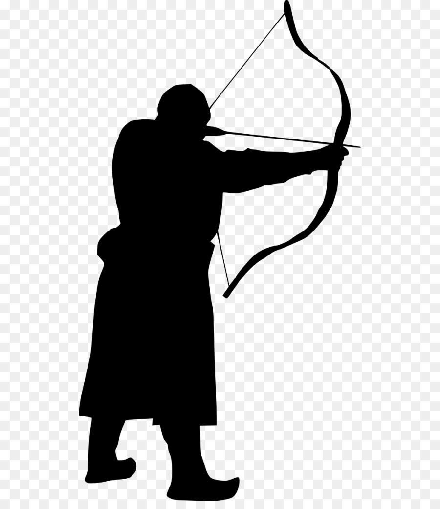 900x1040 Silhouette Archery Clip Art