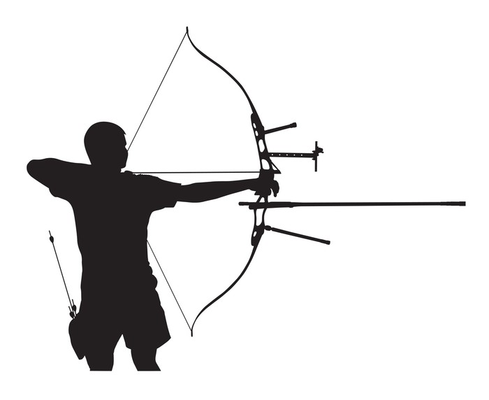 700x572 Silhouette Of Archer Wall Mural We Live To Change