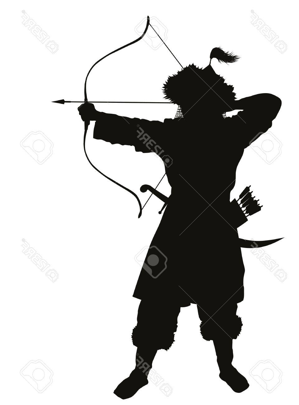 960x1300 Top 10 Oriental Archer With Bow And Arrow Detailed Vector