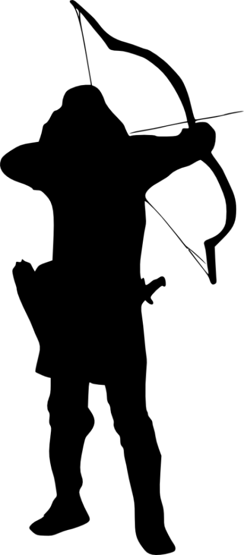 480x1090 Archer Silhouette Png
