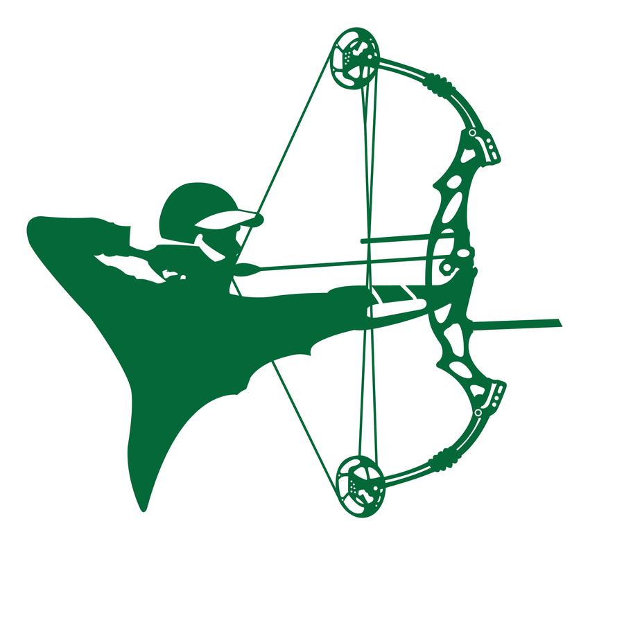 900x905 Compound Archery Silhouette By Graviss