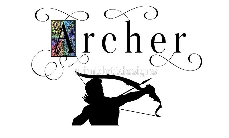 800x482 Archer Fancy Text With Male Silhouette Archery