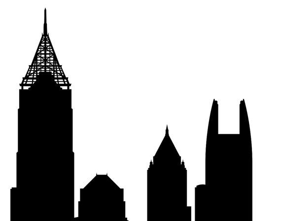 570x448 Atlanta Skyline Silhouette Printable Skyline Atlanta