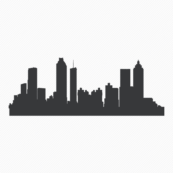 600x600 Atlanta Skyline Wall Art Atlanta Skyline Wall Decal Wallums