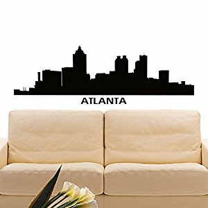 300x300 Wall Decal Vinyl Sticker Atlanta Skyline City