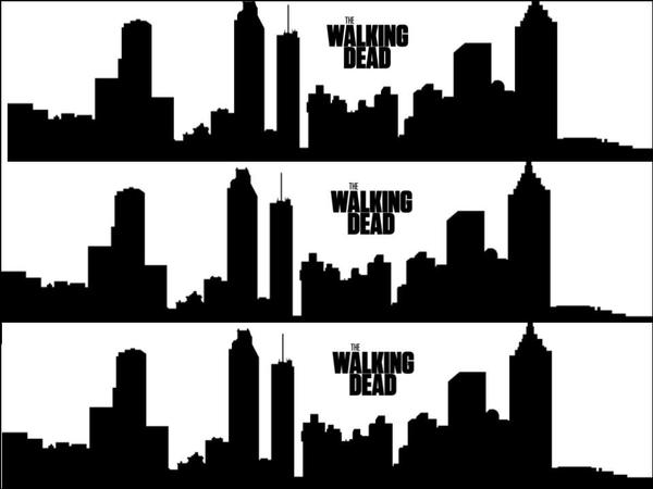 600x450 The Walking Dead Silhouette Atlanta Skyline