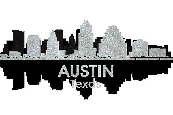 600x400 Austin Tx 4 City Silhouette Art City Lights, City