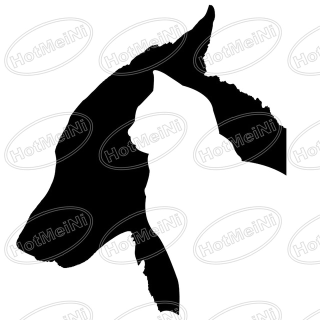 640x640 Hot Sale Dog And Cat Pet Silhouette Sticker For Car Rear