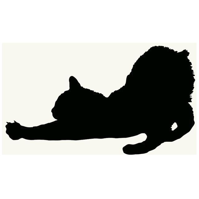 640x640 Stretching Cat Silhouette Kitten Fits Car Window Truck Bumper Auto