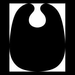 263x262 Bib Silhouette Cricut Baby Silhouette, Silhouette