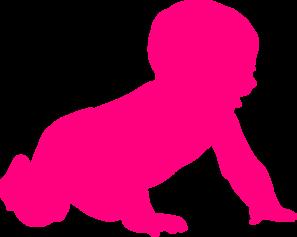 297x237 Baby Silhouette Clip Art