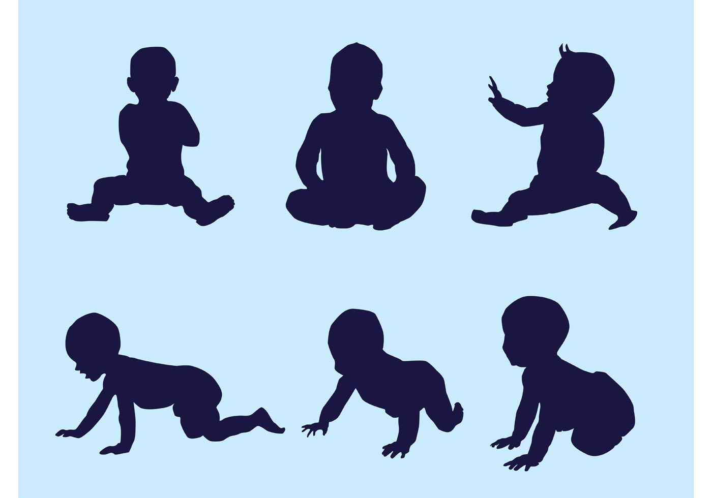 1400x980 Baby Silhouette Vector Free