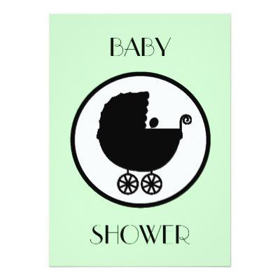 400x400 Silhouette Baby Shower Invitations Baby Shower Invitations