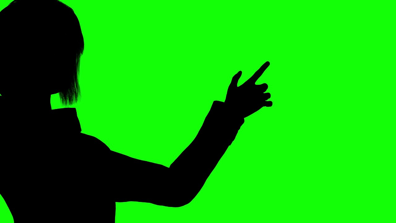 1280x720 Free Hd Video Backgrounds Woman Silhouette Performing Touch