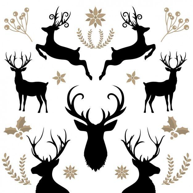 626x626 Floral Background With Reindeers 1183 147.jpg Xmas