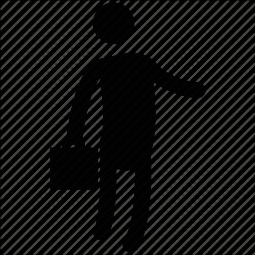 512x512 Handbag, Man, Man With Bag, Men, Silhouette, Standing Icon Icon